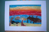 «Осень и закат» Сорокина Дарья, 9 лет, МБОУ «СОШ № 4»
