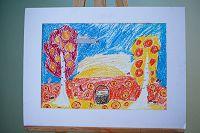 «Осенний пейзаж» Подкина Мария, 8 лет, МБОУ «СОШ №8»