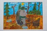 Желткова Екатерина Анатольевна (13 лет) «Ёжик в лесу»