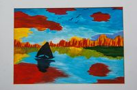 Сафонова Софья Андреевна (12 лет) «Осень на озере»