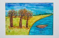 Баракаева Мадина Асановна (10 лет) «Осень у речки»