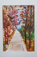 Желонкин Матвей Александрович (8 лет) «Осенние деревья»