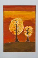 Соломина Доминика Ярославовна (9 лет) «Осенние деревья»