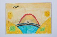 Колесникова Ева Дмитриевна (7 лет) «Кот и золотая осень»