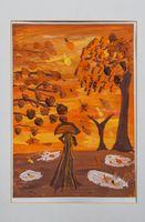 Гусеинли Шафа Али кызы (9 лет) «Осенний листопад»